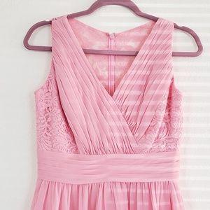 Pretty Pink Prom Dress Bridesmaids Evening Dress